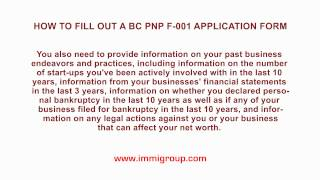 كيفية ملء قبل الميلاد PNP F-001 استمارة الطلب ؟