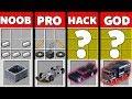 Minecraft Battle: NOOB vs PRO vs HACKER vs GOD:SUPER HOT WHEELS CAR Challenge in Minecraft Animation
