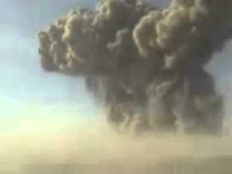 Powerful nuclear bomb exploding !!!