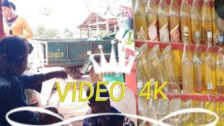 Video 4K nice girl clean battle gasoline ស្រីស្អាតលាងដប