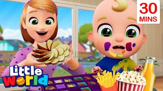 Fruits Are Good For You + More Healthy Habits Song With Nina And Nico   Little World Nursery Rhymes
