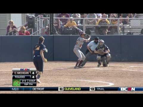 Central Michigan Vs. Toledo College Softball