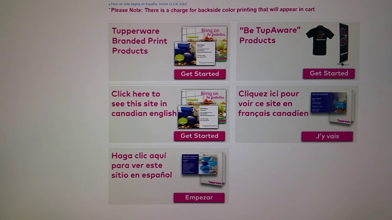 Tupperware consultants.: How get to Vista print to order your ...