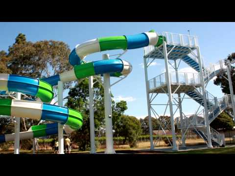 Marion Outdoor Swimming Centre Water Slide Swimplex Aquatics Youtube