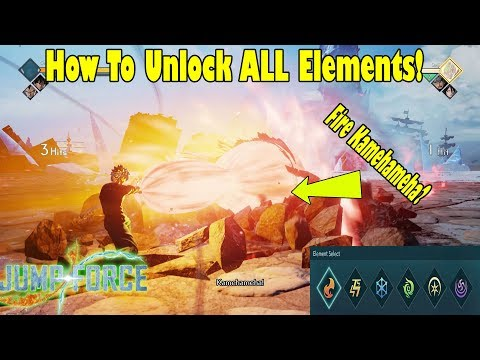 Jump Force How To Unlock ALL Element Types For CAC's