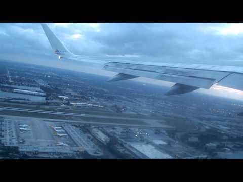 American 651 Takeoff  Miami To Barbados