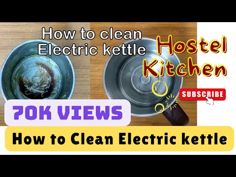 How to clean/wash electric kettle   hostel hacks   burnt food   recipe for students