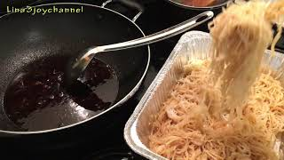 Khmer food /How to make Stir fried rice noodle with Khmer chicken ham/Cambodian Koy Teav chha