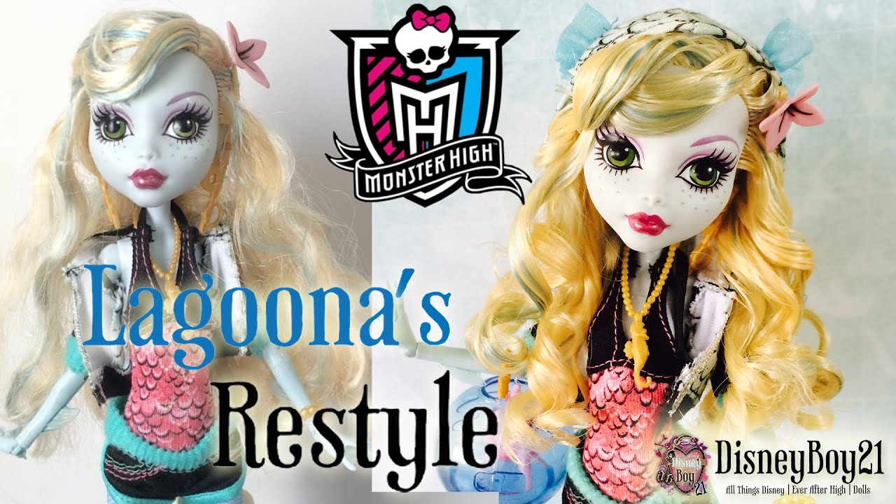 How To Restyle Monster High Lagoona Blue Doll Hair Tutorial