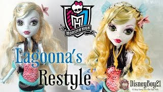 How To Restyle Monster High Lagoona Blue Doll Hair Tutorial - Restoring Pre-Loved Dolls