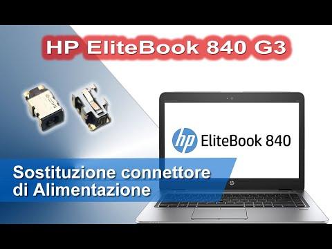 HP EliteBook 840 G3 Smontaggio completo e sostituzione connettore di alimentazione - DC Power Jack