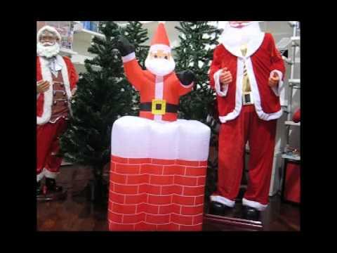 Camino Di Babbo Natale.Gonfiabile Babbo Natale Su E Giu Dal Camino