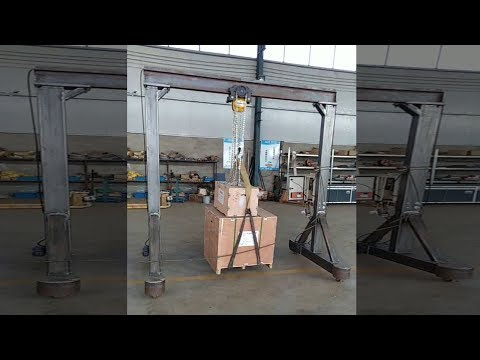 1 Ton Portable Gantry Crane With Electric Chain Hoist By Pendant Control
