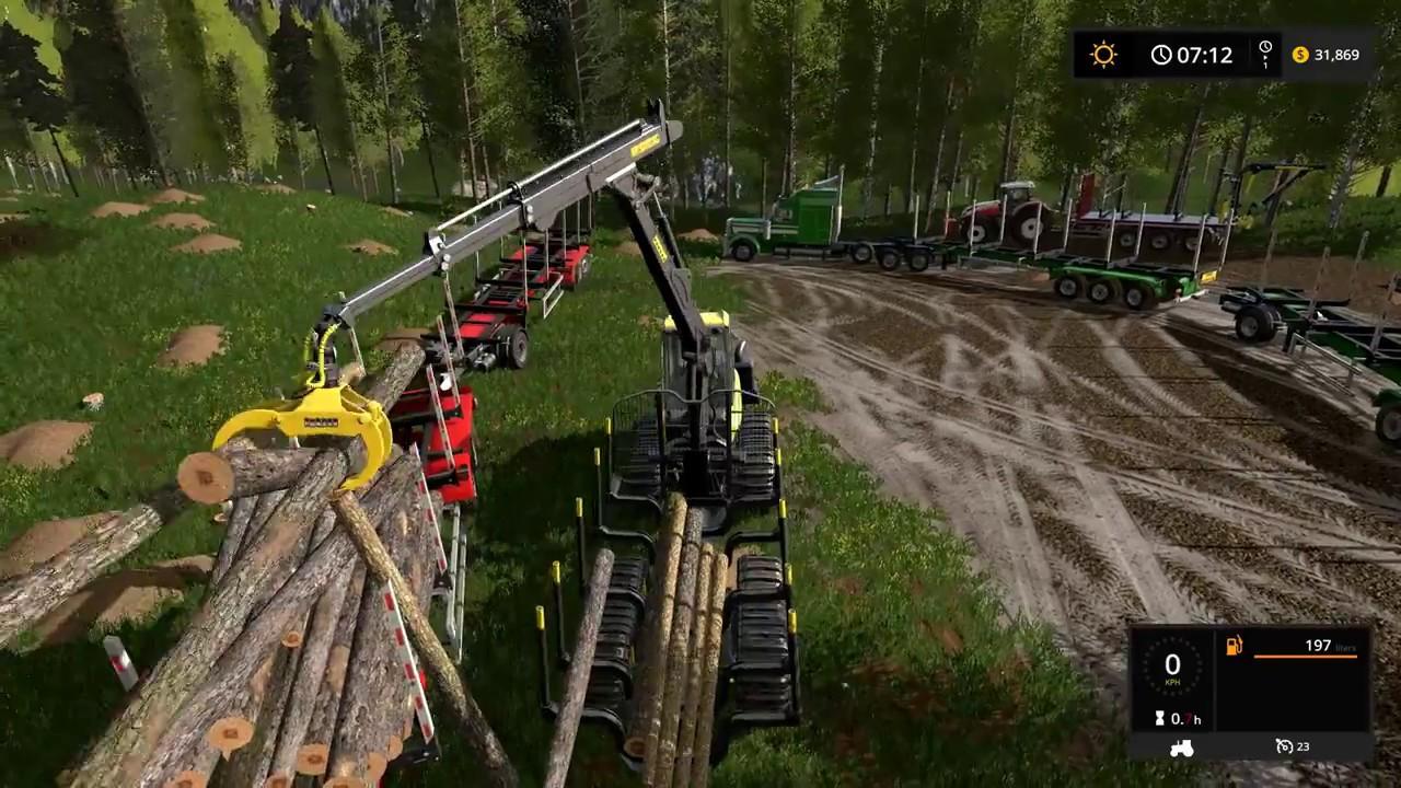 Download Farming simulator 17 - Emerald valley logging timelapse ep#6