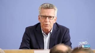 Innenminister Thomas de Maizière (CDU) stellt sich Bürgerfragen - Tag der Offenen BPK-Tür 2017