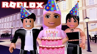 CELEBRATING MY BIRTHDAY AT AMBERRY HOTEL | Bloxburg Roleplay | Roblox