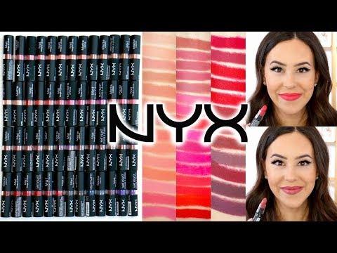 NYX Matte & Velvet Matte Lipsticks || Arm & Lip Swatches of 53 SHADES