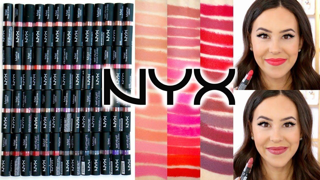 Nyx Matte Velvet Matte Lipsticks Arm Lip Swatches Review All