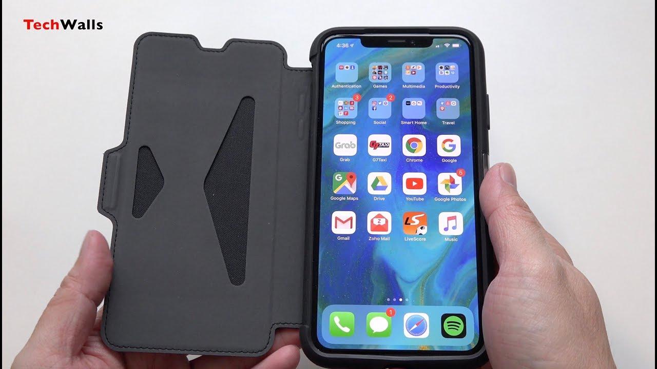 new products b470f e1246 OtterBox STRADA Series Folio Case for iPhone XS Max