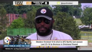 ESPN First Take   Mike Tomlin On Pittsburgh Steelers and Rooney Rule