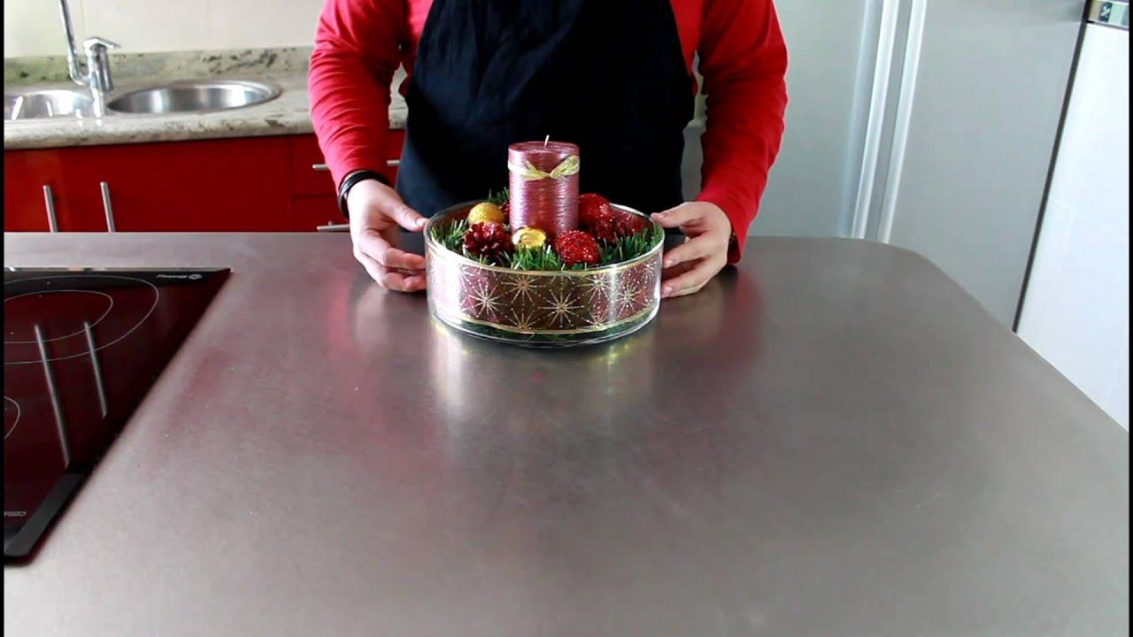 Tutorial de navidad centro de mesa navide o how to - Como hacer un centro de mesa navideno ...