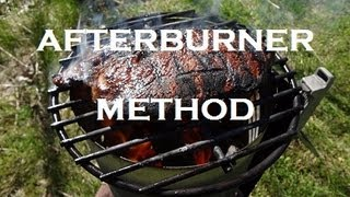 Afterburner BBQ Cooking Method - How to recipe for cooking a thin steak or burgers - BBQFOOD4U