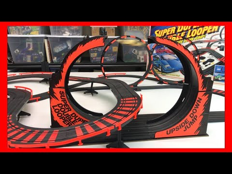 SUPER DUPER DOUBLE LOOPER TYCO SLOT CAR AMAZING GOODWILL FIND!