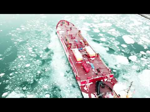 BEAUTIFUL! There are ICEBERGS in the Cape Cod Canal. 4K Drone Footage