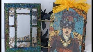 Altered Halloween Wood Window Album Part-1 Of 10 (vlog)
