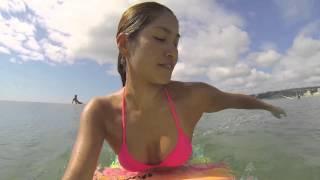 アングルが刺激的!千葉の「美人サーファー」のセクシーサーフィン!
