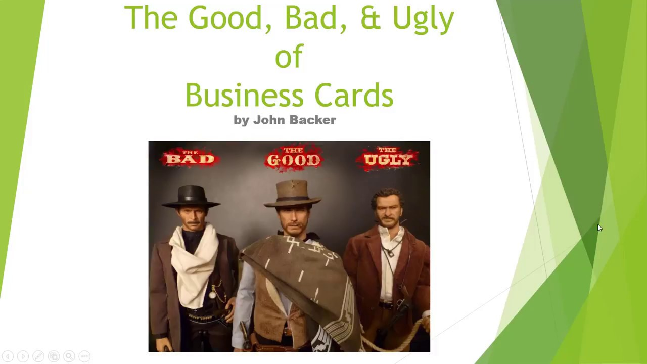 The good bad and ugly of business cards youtube the good bad and ugly of business cards colourmoves