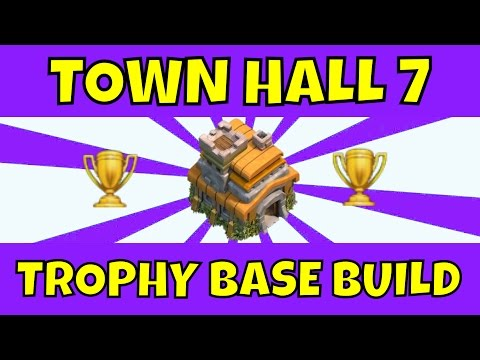Clash Of Clans: Best Town Hall 7 Trophy Base (D.E Drill) - 2015