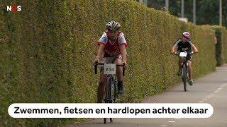 Steeds meer kinderen doen mee aan een triatlon