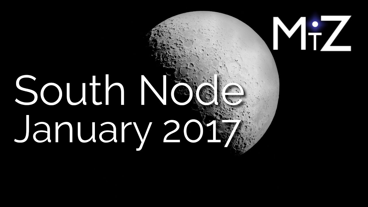 Moon Conjunct South Node - January 2, 2017 - True Sidereal Astrology -  YouTube