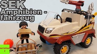 Playmobil SEK Amphibienfahrzeug 9364 auspacken seratus1 Spezialeinsatzkommando