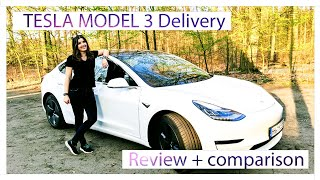 Tesla model 3 delivery and review | Model S comparison
