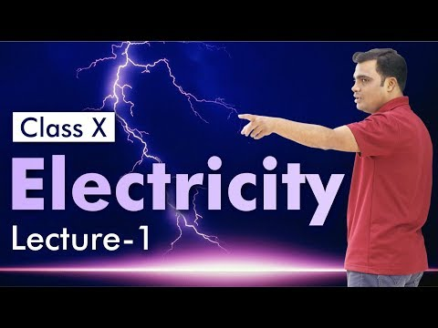 Physics Class X: Electricity (Lecture-1) by Prof. Vipin Josh