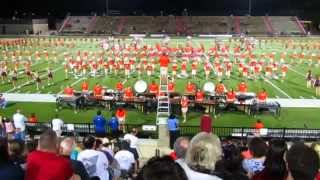 Auburn University Marching Band performs at the 2015 Band-o-Rama.