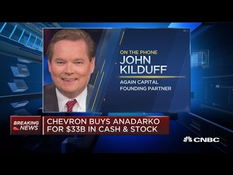 Here's how stocks are moving on the Chevron-Anadarko deal