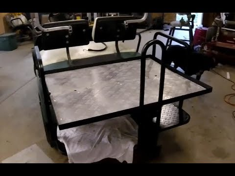 Installing a back seat on a Yamaha Golf Cart Redneck Style YouTube