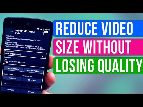 How To Reduce Video File Size Without Losing Quality From Android ?- In Hindi