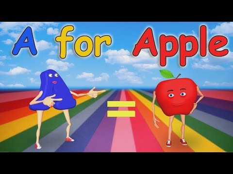 Thumbnail: A for Apple Nursery Rhymes | Alphabet Song | ABC Song for Children