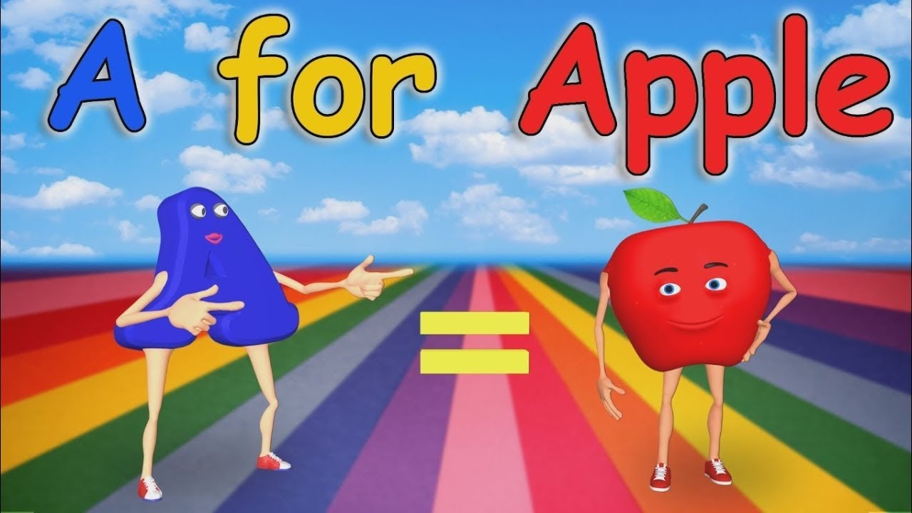 A For Apple Nursery Rhymes Alphabet Song Abc Song For Children