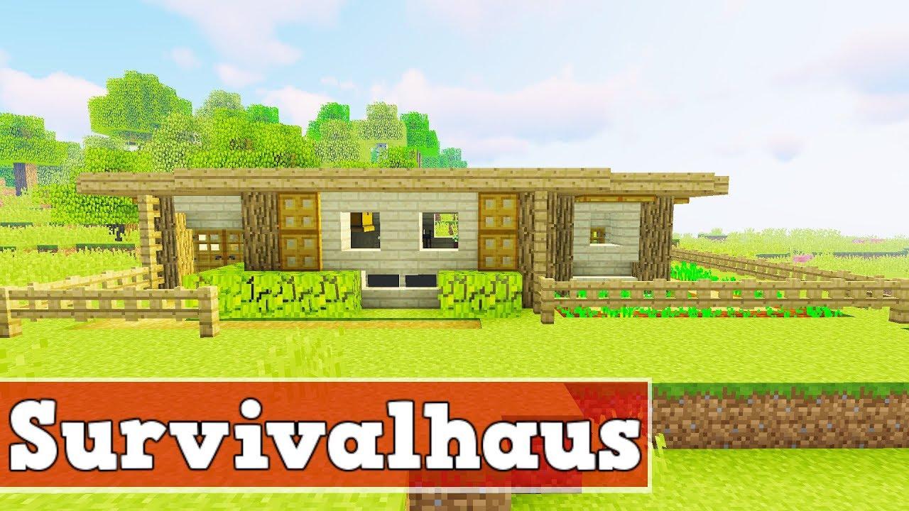 wie baut man ein survival haus in minecraft minecraft. Black Bedroom Furniture Sets. Home Design Ideas