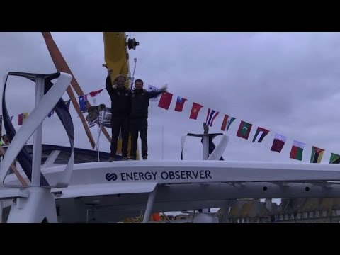 Energy Observer catamaran is launched in France