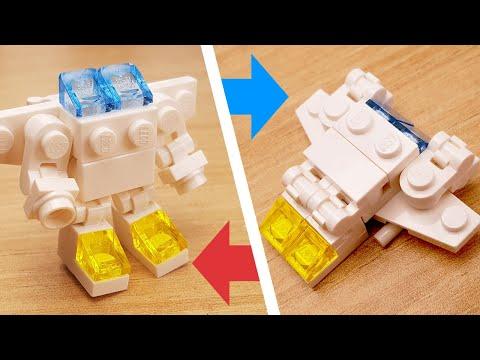 [LEGO Mini Robot Tutorial] Rescue Jet Transformer Mech/ミニレゴ変身ロボ/미니 레고 변신로봇