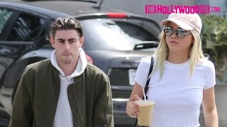 Sofia Richie & Her Boyfriend Jake Andrews Stop For Coffee At Verve In West Hollywood 4.6.16