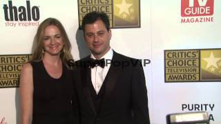 Molly McNearney, Jimmy Kimmel at 2012 Critics' Choice Tel...