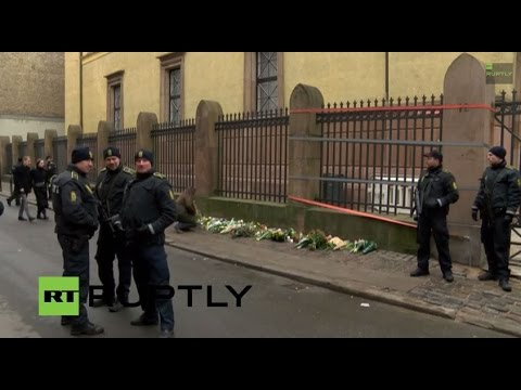 LIVE: Copenhagen shooting – tributes pour in outside synagogue