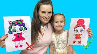 ЧЕЛЛЕНДЖ Три Маркера Алина против мамы  3 marker challenge kids edition Играем вместе
